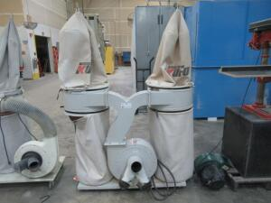KUFO SECO UFO-102B 3HP DUAL VERTICAL BAG DUST COLLECTOR