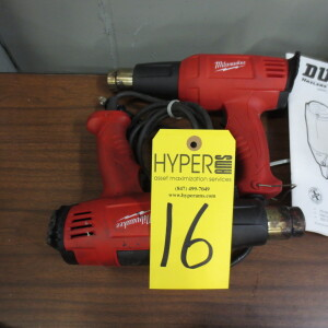 (2) Milwaukee Heat Guns