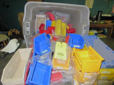 LOT OF PLASTIC FASTENER CONTAINERS, assorted