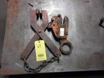 LOT OF PLATE CLAMPS (2)