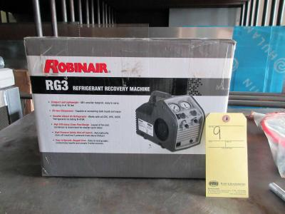 REFRIGERANT RECOVERY MACHINE, ROBINAIR MDL. RG3 (new in box)
