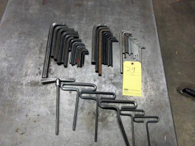 LOT OF ALLEN WRENCHES, assorted