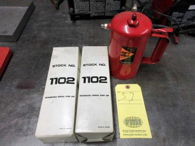 LOT OF AIR PRESSURIZED REFILLABLE/REUSABLE CONTAINERS (3)