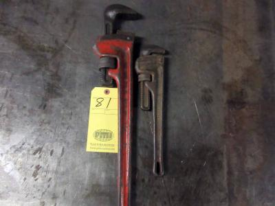 LOT OF PIPE WRENCHES (2): No. 24 & No. 14