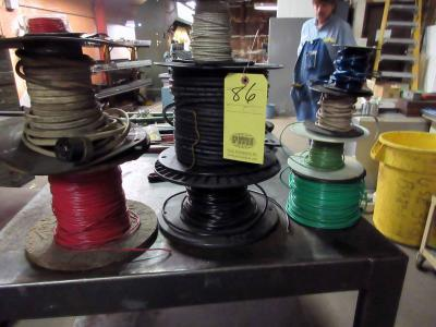 LOT OF ELECTRICAL WIRE (on multiple spools)