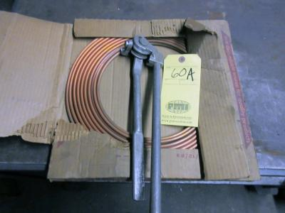 TUBING BENDER, w/approx. 20' copper tubing