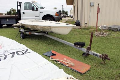 SAILBOAT, LASER APPROX. 16'L., w/trailer