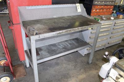 LOT OF SHOP WORKBENCHES (6)