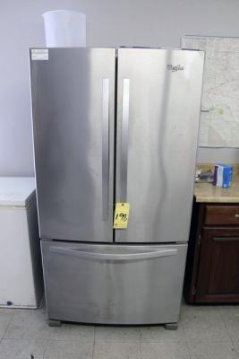 STAINLESS REFRIGERATOR, WHIRLPOOL, french doors