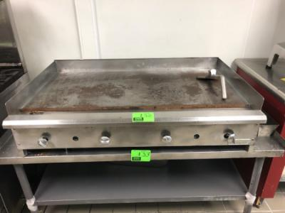 4' Royal stainless steel gas griddle