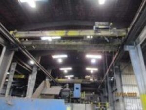 Bohl 10 Ton Twin-Girder Bridge Crane, 43 ft. (est.) Span, Pendant (no runway) (LOCATED IN
