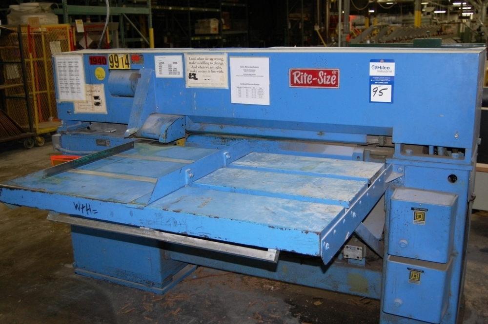 Sheldahl Model Rite Size BMC-36 Box Die Cutter, Serial Number: 287-375 ,