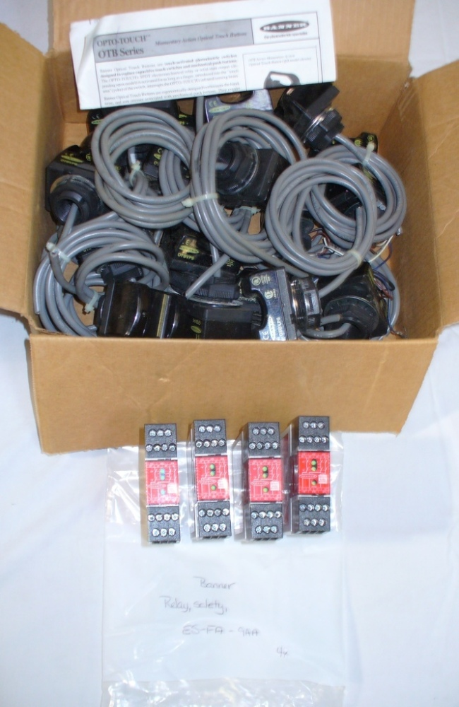 Banner OptoTouch switches and safety relays. USED. Good ... on