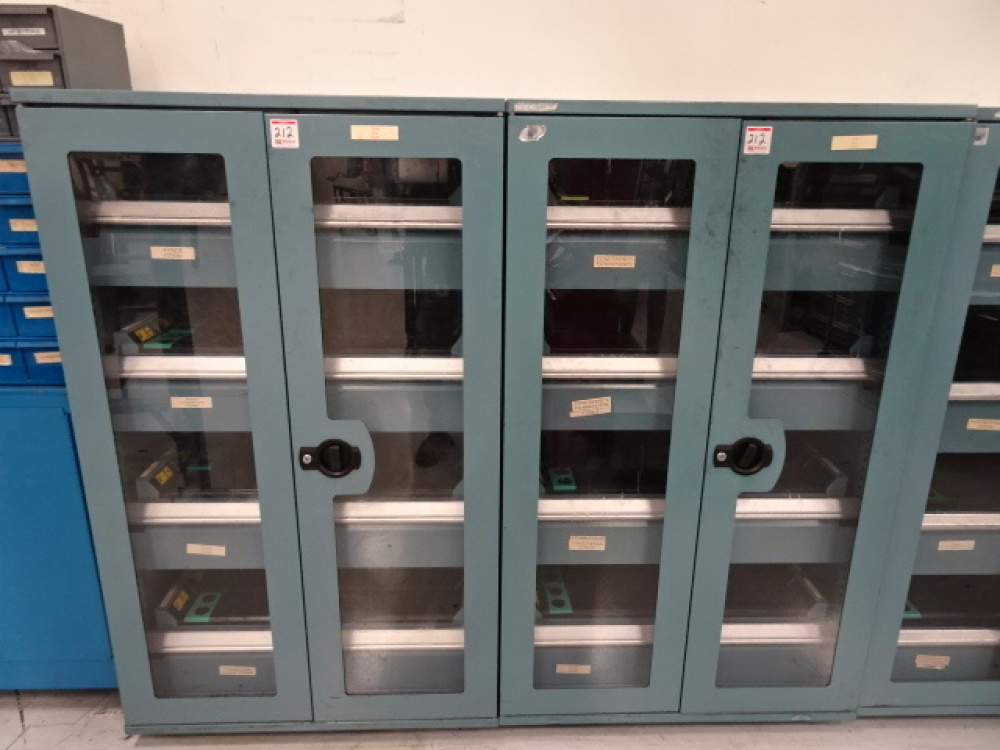 Lot 212 Of 1290: Lot Of (2) Rousseau 2 Door Tooling Cabinets, (4) Slide Out  Drawers Each