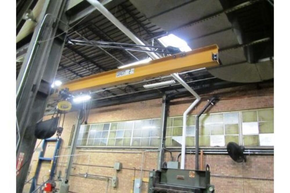 2 Ton Wall Mounted Jib Crane with Budgit 2 Ton Electric Hoist with
