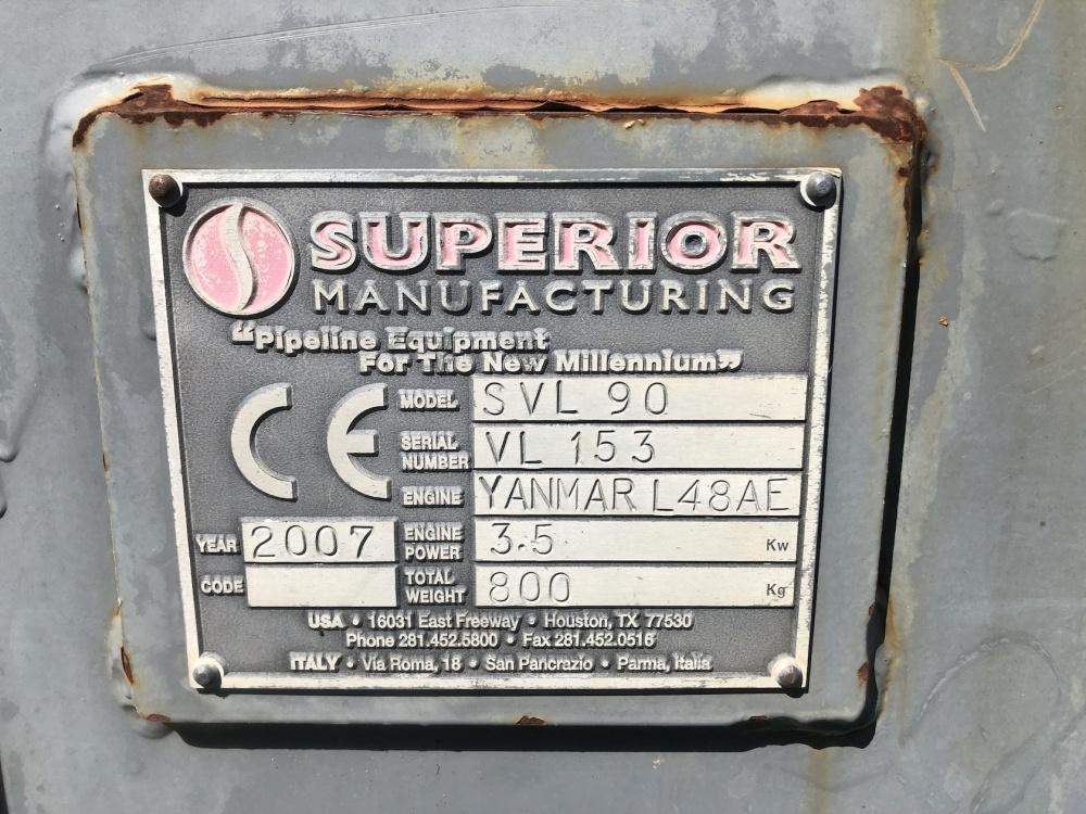 2007 Superior SVL 90 Vacuum Lift, 19,800 lbs Lift Capacity, S/N