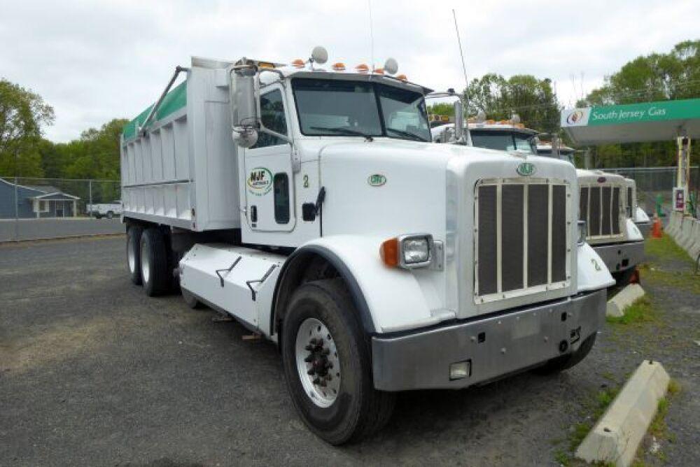 2015 Peterbilt 365 CNG Tri-Axle Axle Dump Truck w/16' J J  Aluminum