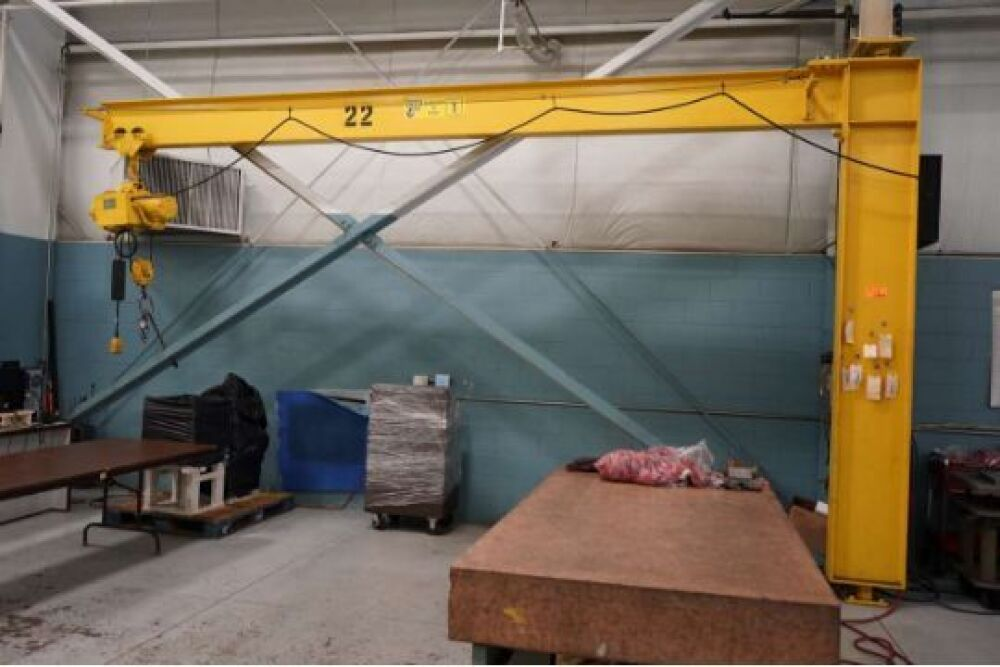 CRB 1 Ton Floor Mounted Jib Crane 16' Foot Tall , With Yale
