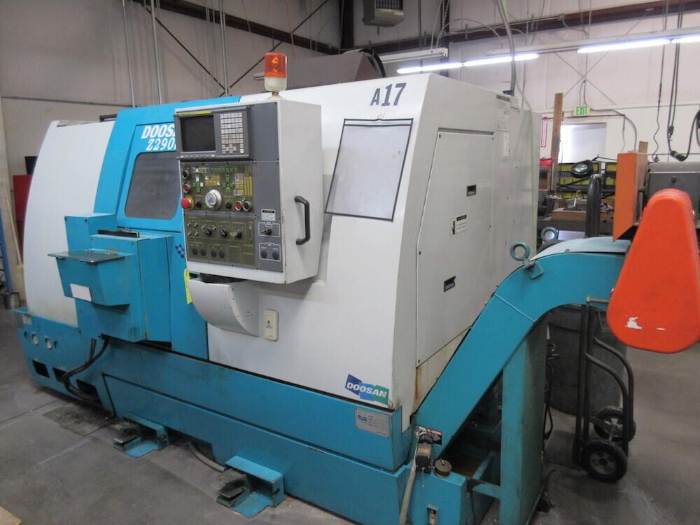 Doosan Model Z290S, Twin Turret CNC Lathe, S/N LXB1004 (New
