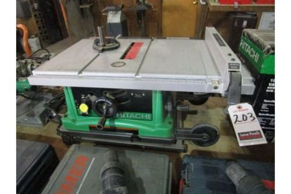 Hitachi 10 Port Table Saw M N C10fr 1 Ph W Stand